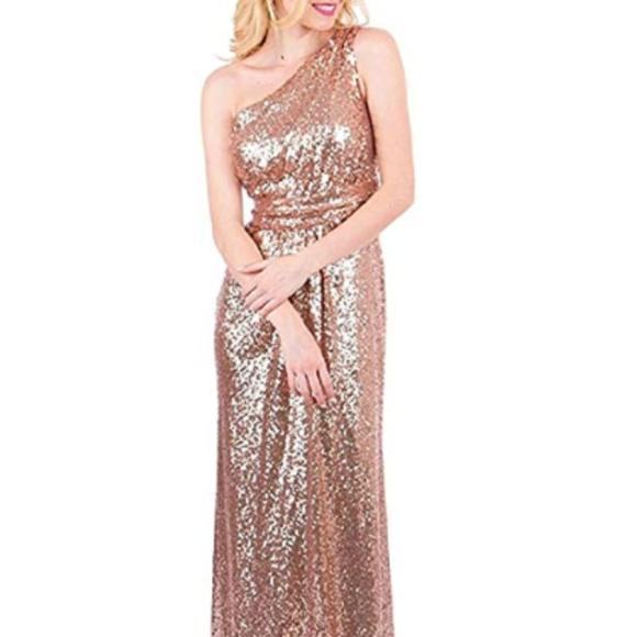 3759b229 karever Dresses | Rose Gold Sequin Dress Size 8 | Poshmark